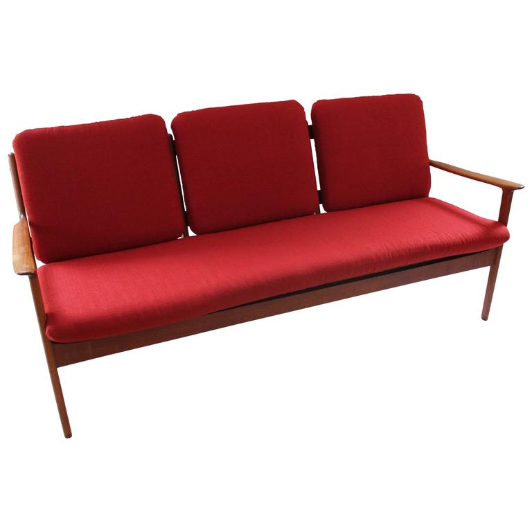 1960 Danish Modern Teak Ole Wanscher Sofa For Sale At 1stdibs