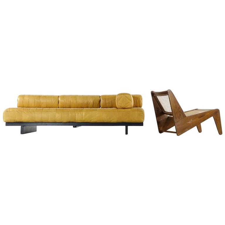 De Sede DS80 Daybed and Sofa in Cognac Aniline Leather, 1969 1