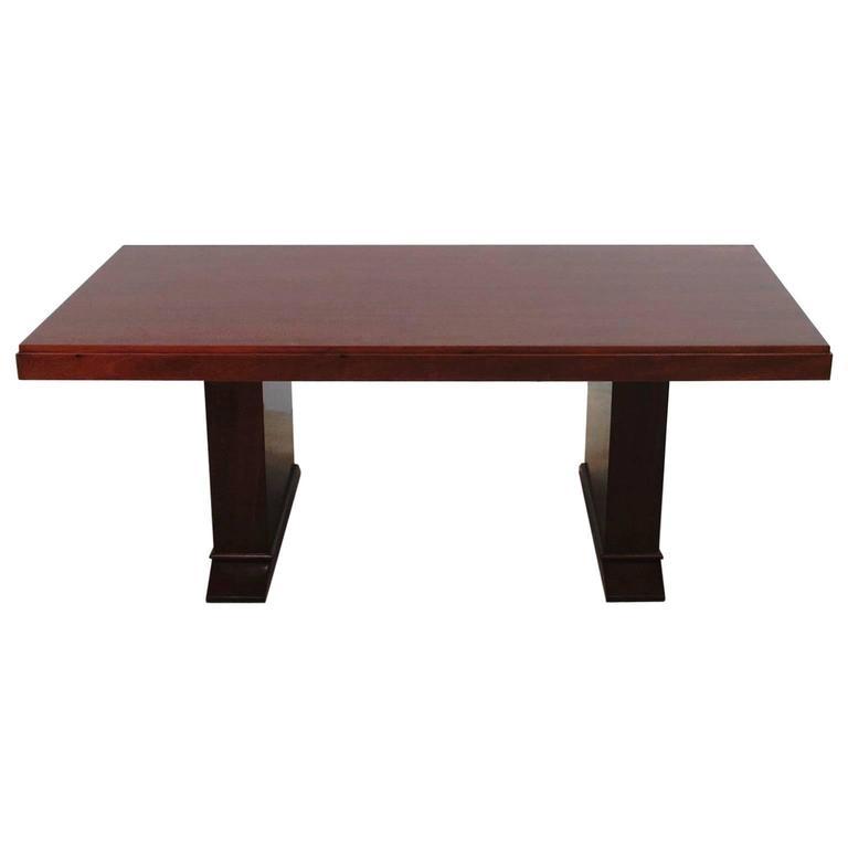 Art Deco Table in Mahogany