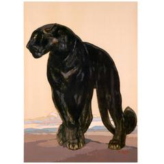 Black Panther Standing by Paul Jouve