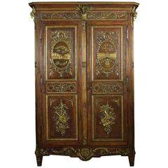 Louis XV French Walnut Armoire