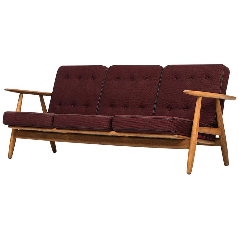 Hans Wegner Sofa Model Ge-240 by GETAMA in Denmark 1