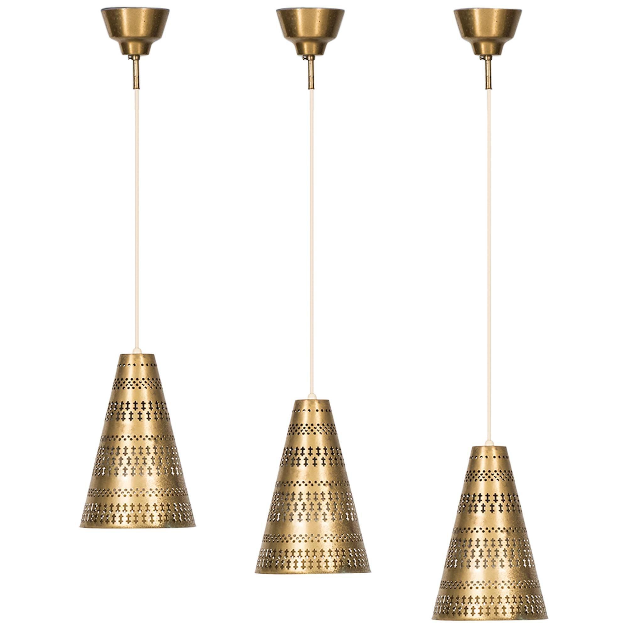 Hans BergströM Ceiling Lamps by Ateljé Lyktan in Åhus, Sweden