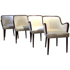 Osvaldo Borsani, Set of Four Armchairs, 1950s