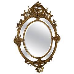 French Mirror Napoleon III Gilded