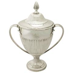 Sterling Silver Presentation Cup and Cover, Antique George III