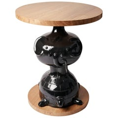 """Oak and Ceramic """"TOTEM"""" Table by Dalo"""