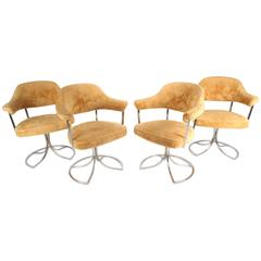 Stylish Mid-Century Modern Swivel Tulip Chairs by Cal-Style Furniture