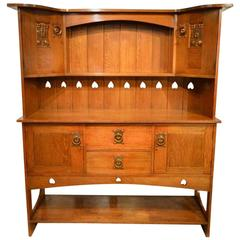 Oak Arts & Crafts Period Scottish School Sideboard or Dresser Probably by Wylie