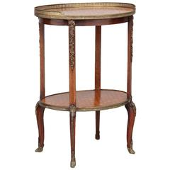 19th Century French Kingwood Parquetry Etagere