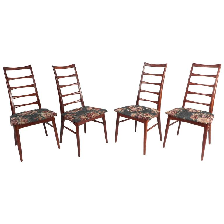 Genial Mid Century Set Of Niels Koefoed Ladder Back Dining Chairs For Raymor