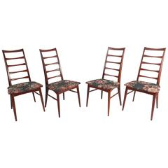 Mid-Century Set of Niels Koefoed Ladder Back Dining Chairs for Raymor