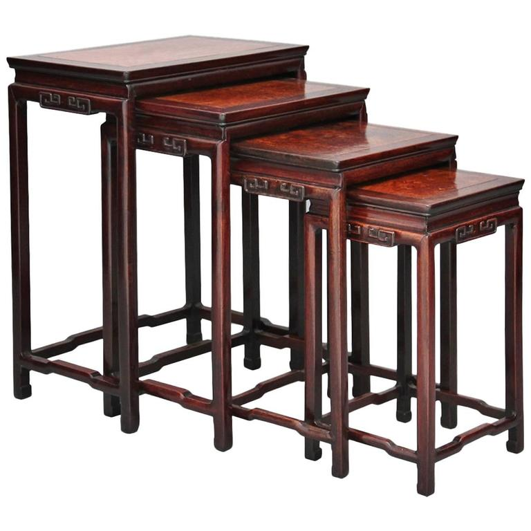 19th century chinese rosewood nest of tables at 1stdibs 19th century chinese rosewood nest of tables for sale watchthetrailerfo