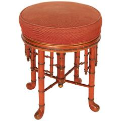Faux Bamboo Painted Stool
