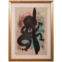 Carborundum Lithograph by Joan Miro