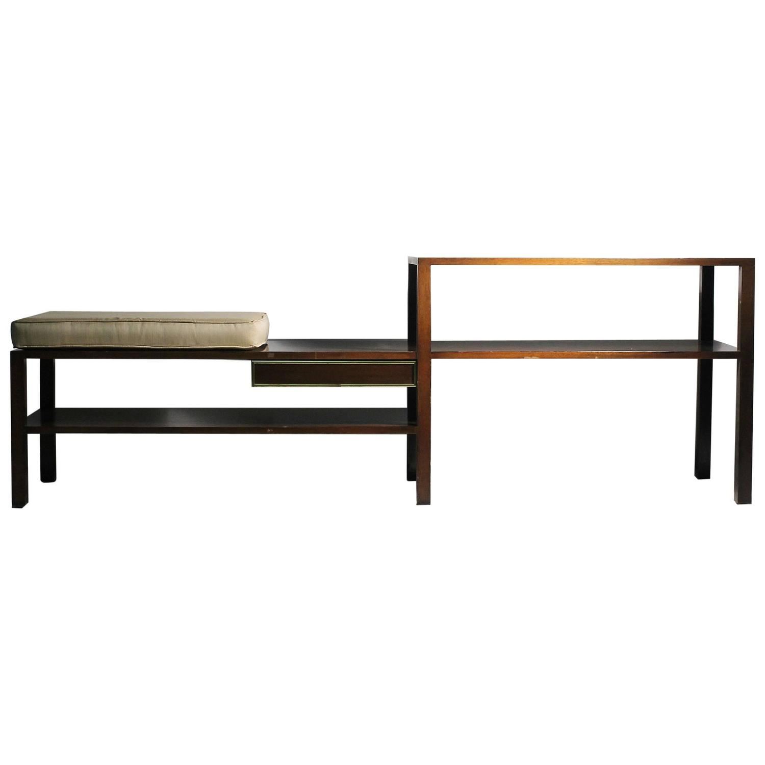 Architectural Harvey Probber Bench Low Etagere Console