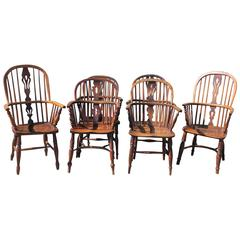 Set of Six Early 19th Century English Windsor Chairs