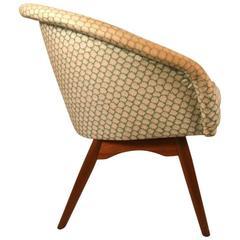 Danish Modern Tub Chair Attributed to DUX
