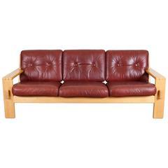 """Bonanza"" Leather Sofa by Esko Pajamies for Asko"