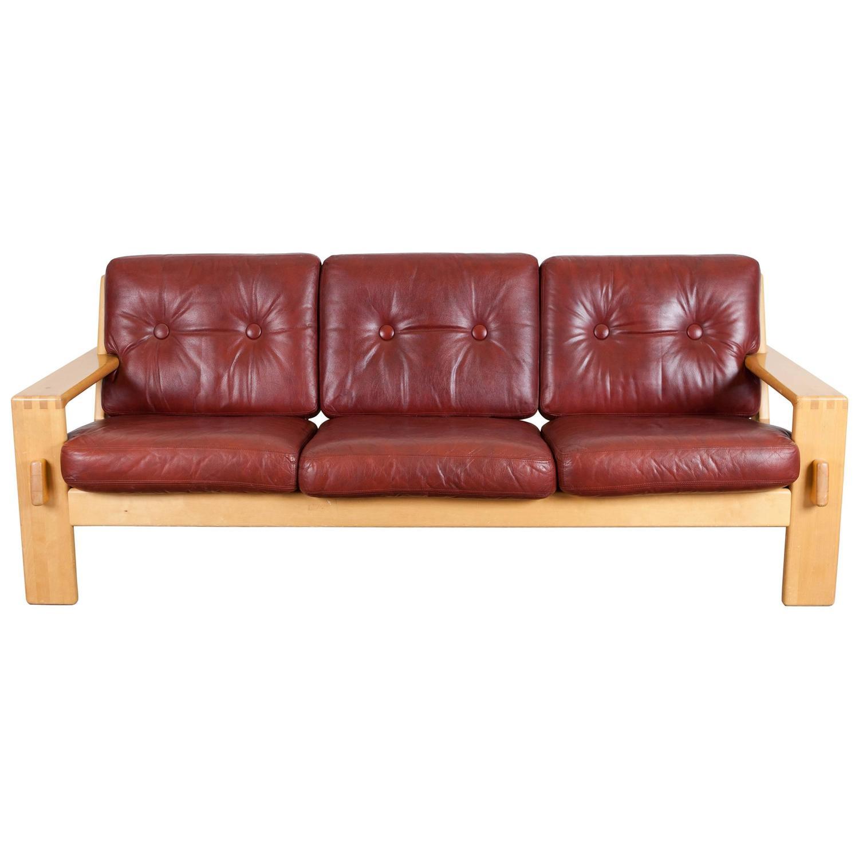 "Bonanza"" Leather Sofa by Esko Pajamies for Asko For Sale at 1stdibs"