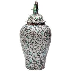 """Flora Enthroned"" Art Deco Lidded Vase by Max Laeuger"