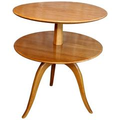 Elegant Two-Tier Side Table by Paul Frankl