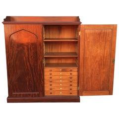 English Estate Compendium or Collector's Cabinet of Mahogany