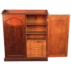 English Estate Compendium or Collector's Cabinet of Mahogany