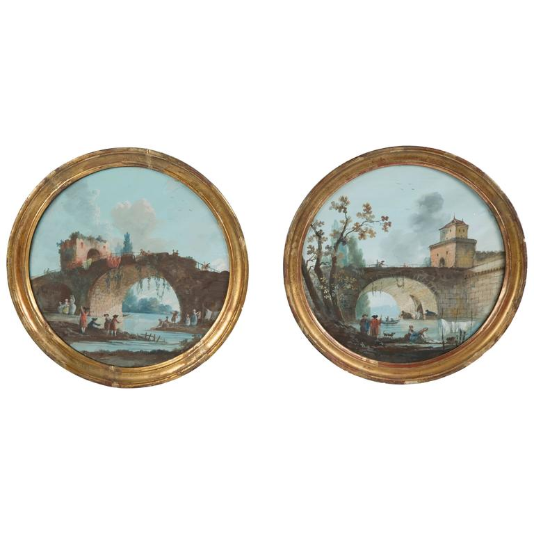 Pair of 18th Century Gouache