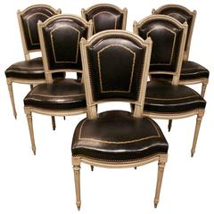 Set of Six French Louis XVI Style Chairs