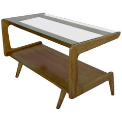 Sculptural Gio Ponti Style Coffee Table, Italy 1950's