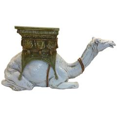 Hollywood Regency Italian Ceramic Table or Garden Seat