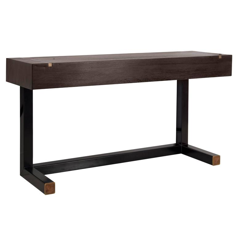contemporary console table using a j wabbes 1960 39 s wenge. Black Bedroom Furniture Sets. Home Design Ideas
