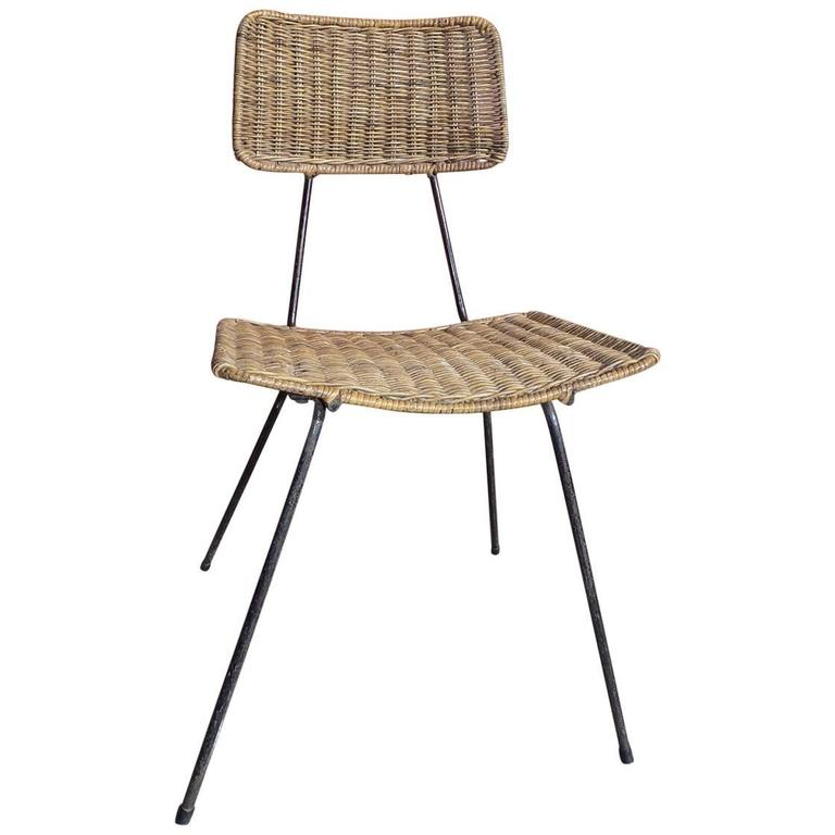 Beautiful Wicker Chair circa 1960 For Sale at 1stdibs
