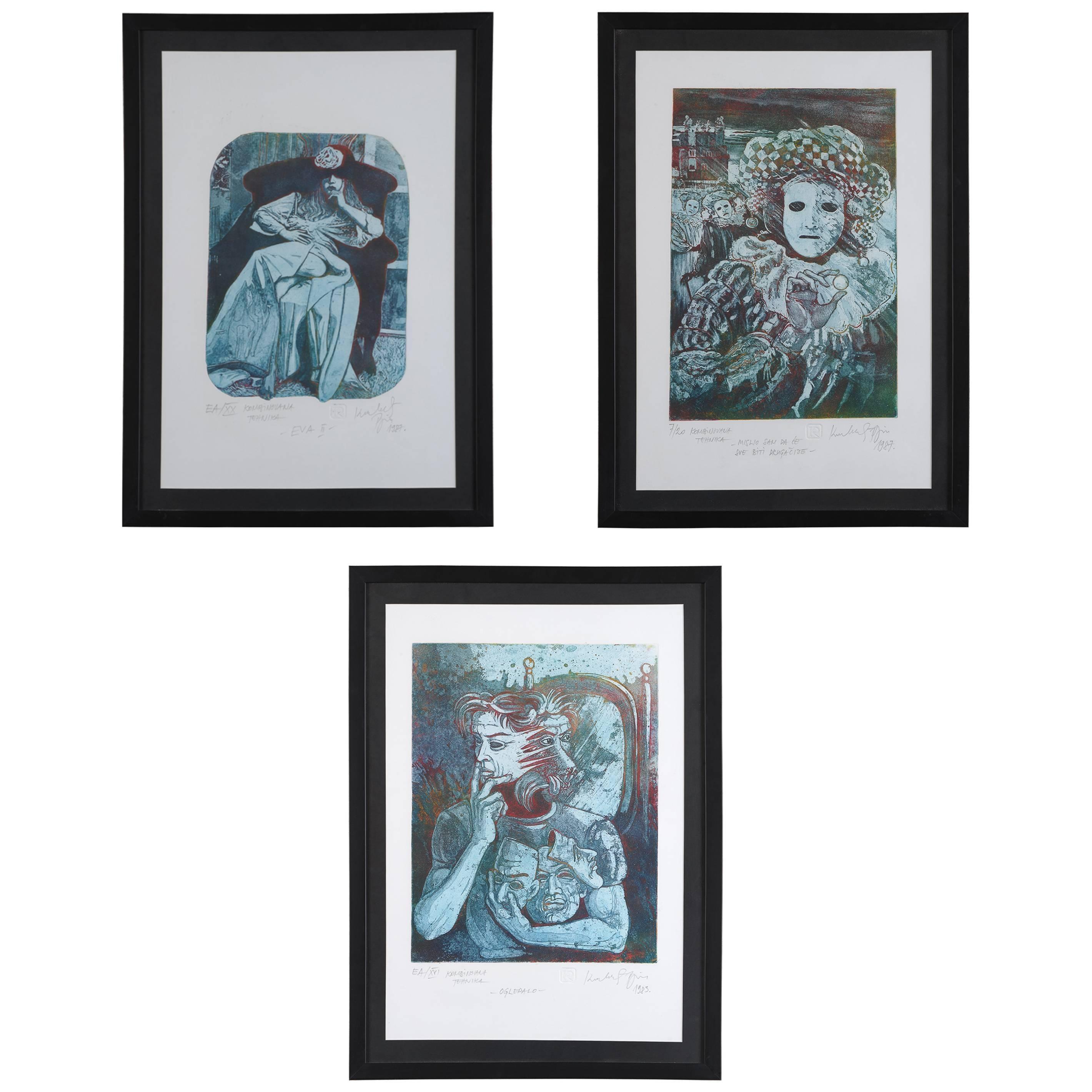 Trilogy Aquatinta by Rajko Kovacevic