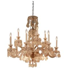 Elegant Hand-Cut Crystal Chandelier