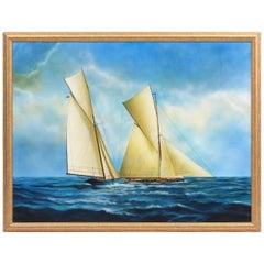 "Argentine Artist Gabriel Duarte Nautical Painting ""New Bounty"""