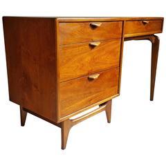 Modernist Walnut Desk, Andre Bus for Lane Perception Series