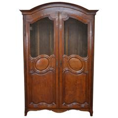 French Louis XV Style Cherry Armoire