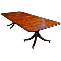 Regency Style Mahogany Dining Table with Two Leaves