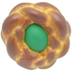 "Jeff Koons ""Bread with Egg"" Green, Signed and Dated, Pop Art"