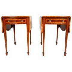 Pair of Mahogany Sheraton Pembroke Tables