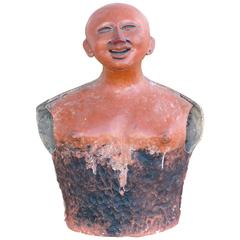 20th Century Pre-Colombian Influenced Terracotta Sculpture by Jorge Marin