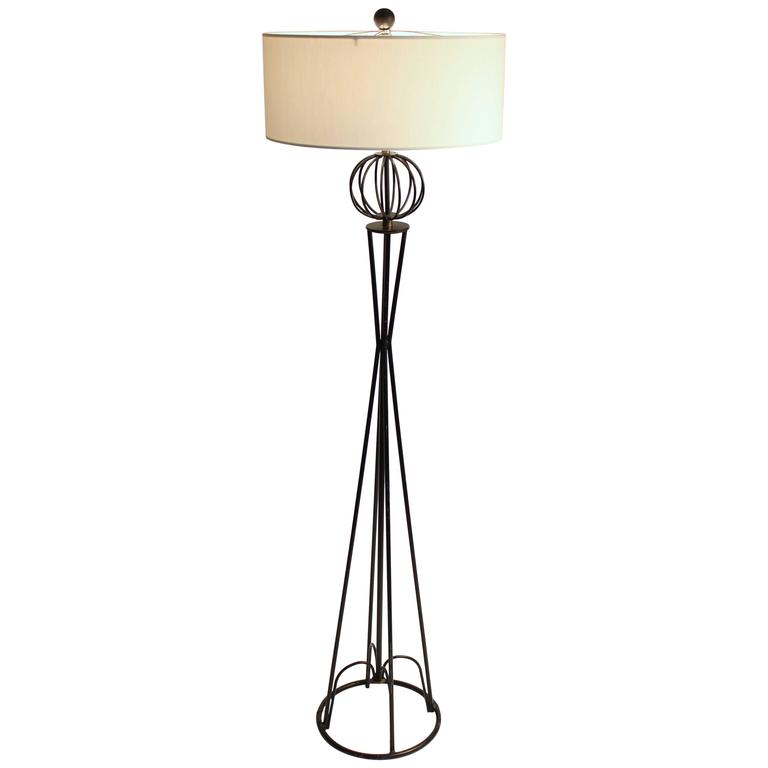 Wire Floor Lamp In The Style Of Tony Paul, Mid-Century