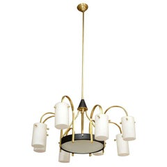 Stilnovo Style Eight-Arm Chandelier