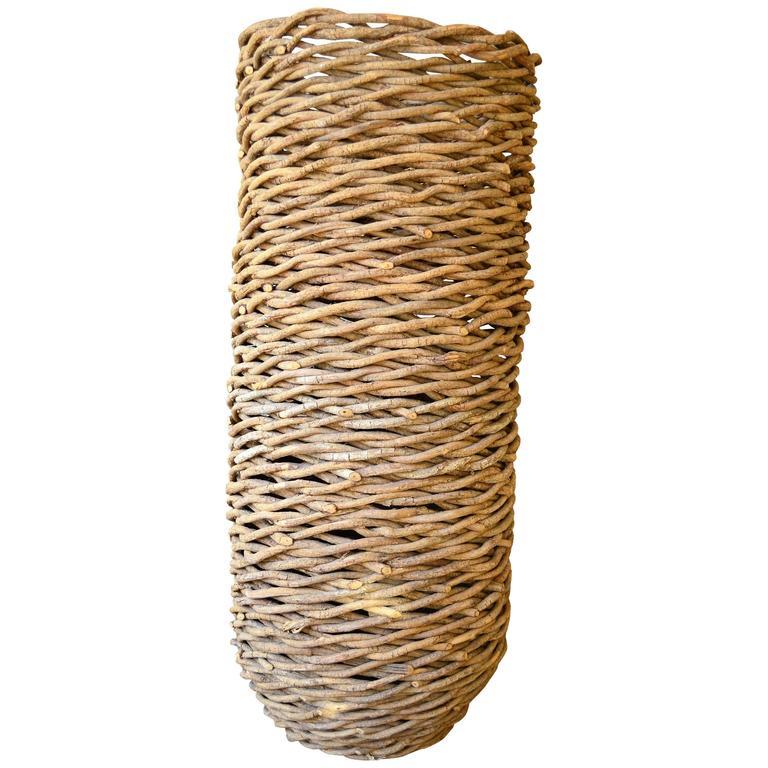 Woven Basket Art : Monumental woven basket at stdibs