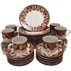 Georges Briard Imari Japan Porcelain Partial Tea & Dessert S/36