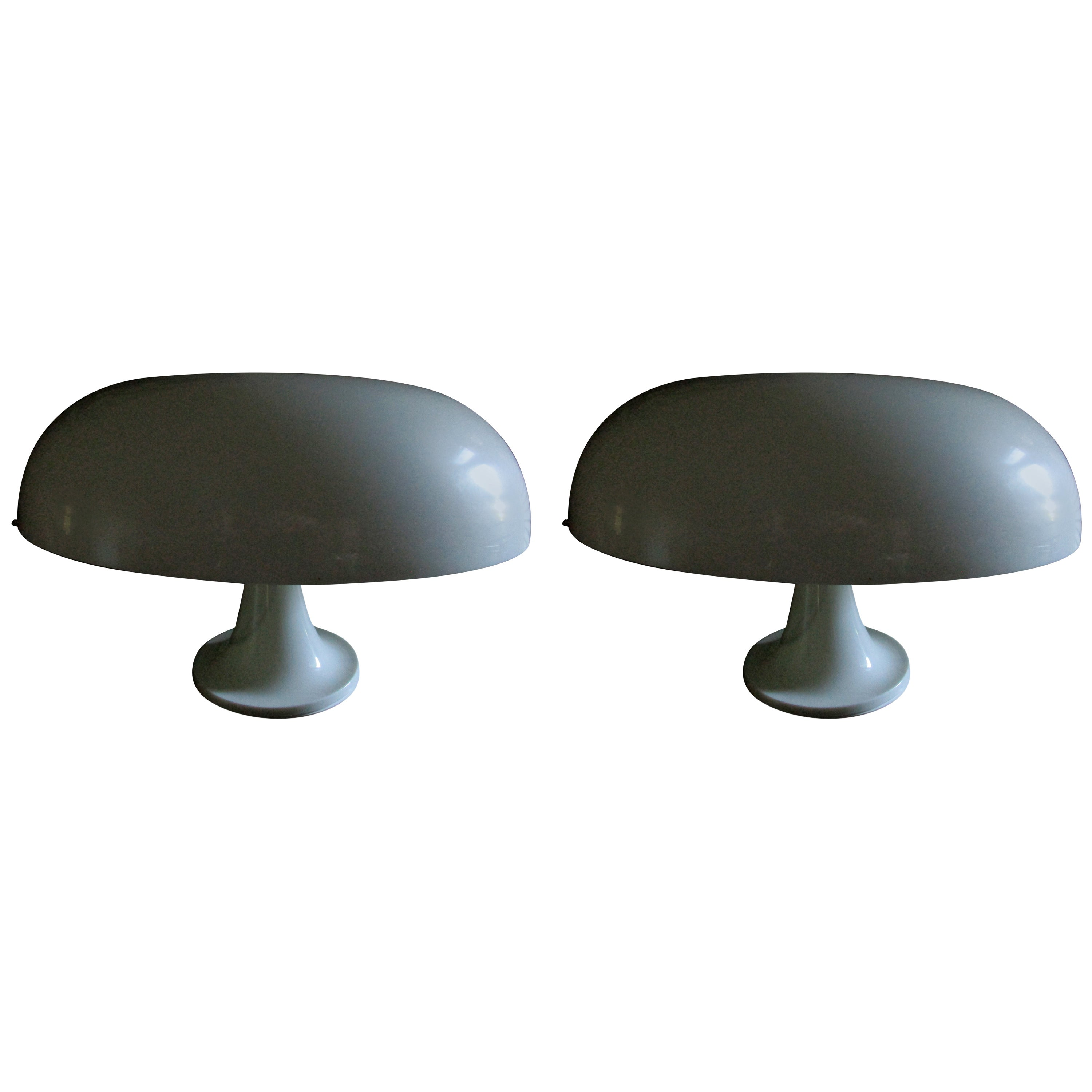 Pair of 1967 Nesso Table Lamps by Artemide First Edition