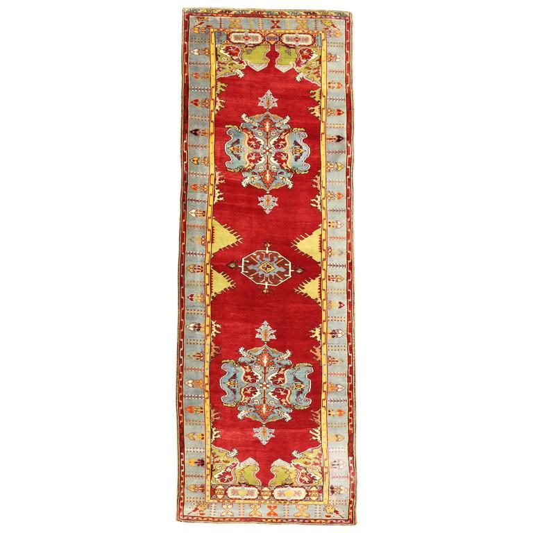 Vintage Turkish Oushak Carpet Runner