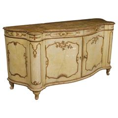20th Century Great Venetian Lacquered Sideboard